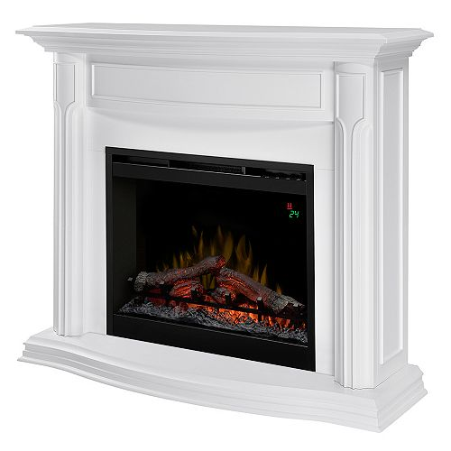 26-inch Gwendolyn Electric Fireplace in White