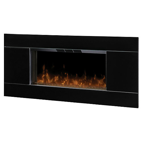 Lane Wall Mount Electric Fireplace with High Gloss Black Trim