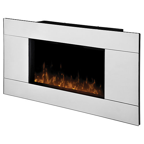 Reflections Wall Mount Electric Fireplace with Mirrored Frame