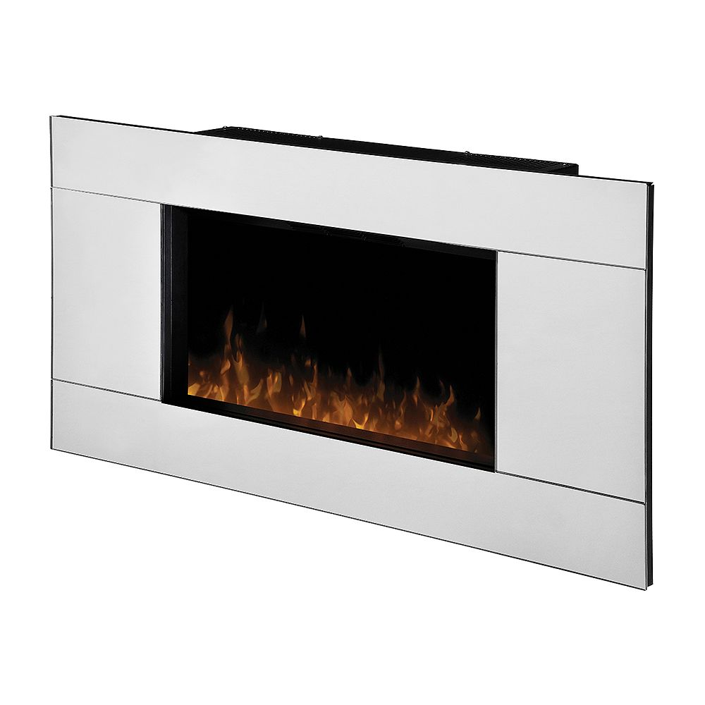 Dimplex Reflections Wall Mount Electric Fireplace With Mirrored Frame The Home Depot Canada