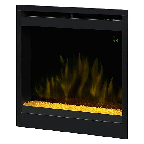 20 In. Electric Firebox with Fixed Crystal Ember Bed