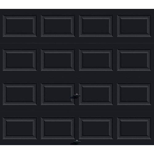 Porte de garage Série Première 8pi x 7pi Valeur R 12.9 isolée en polyuréthane Intellicore Avec Fini Cerisier