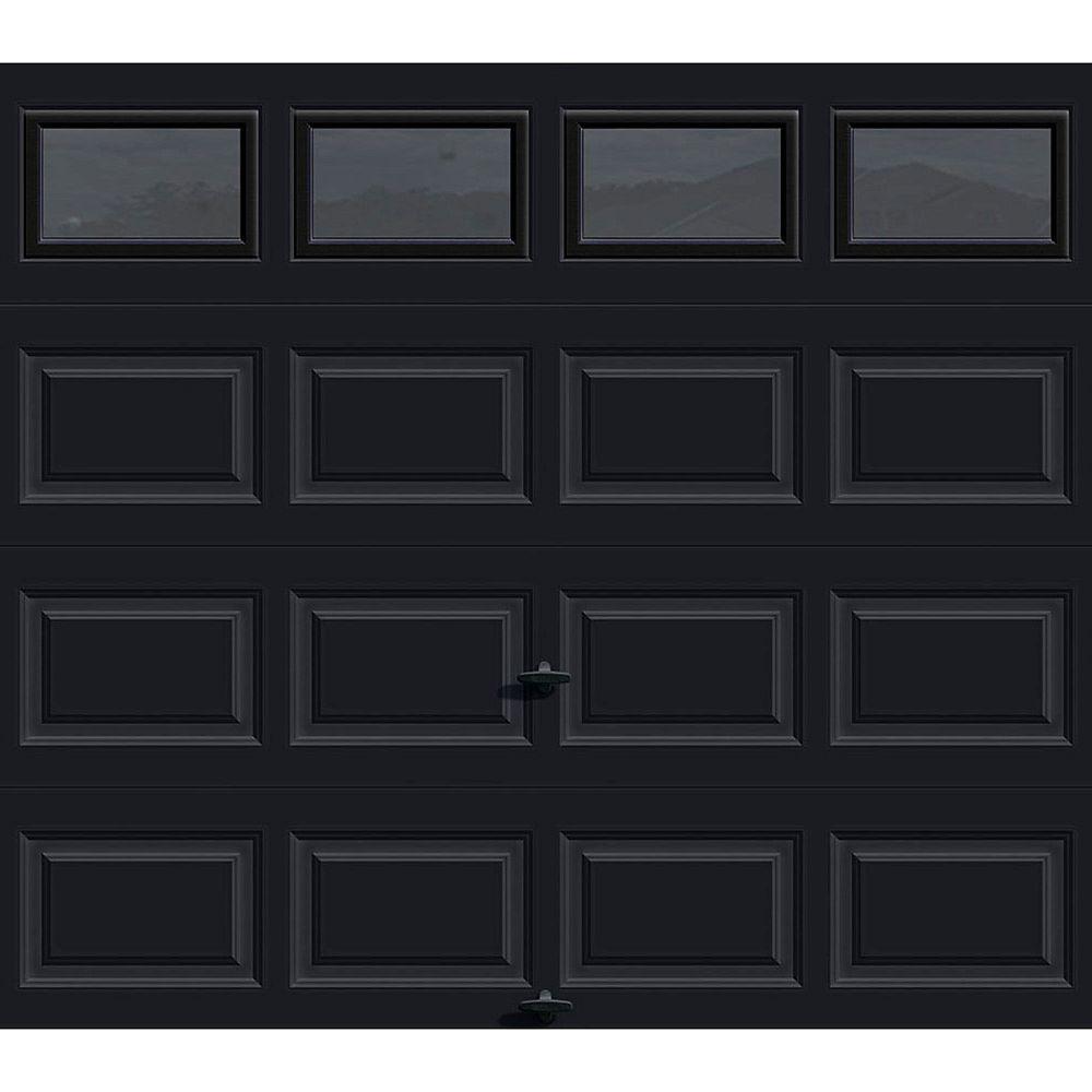 Clopay Porte de garage Série Première 8pi x 7pi Valeur R 12.9 isolée en polyuréthane Intellicore Avec Fini Pâle