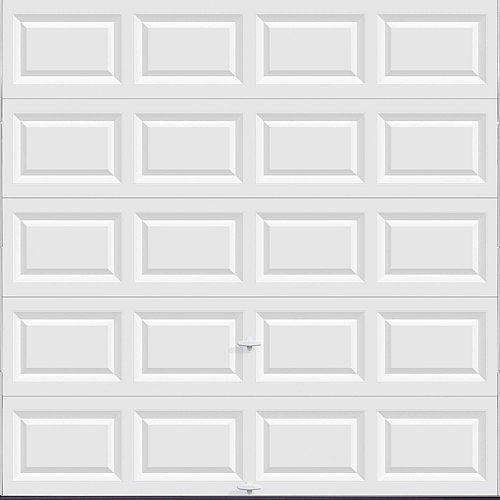 Porte de garage Série Valeur 8pi x 8pi non-isolée Blanche