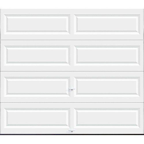 Value Series 8 ft. x 7 ft. Non-Insulated Solid White Garage Door