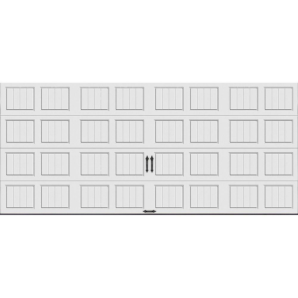 Clopay Porte de garage Collection Gallery 16pi x 7pi Valeur R 18.4 isolée en ployuréthane Intellicore Blanche