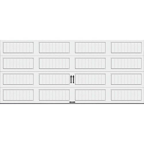 Porte de garage Collection Gallery 16pi x 7pi Valeur R 18.4 isolée en ployuréthane Intellicore Blanche