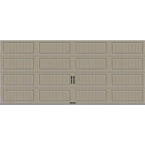 Porte de garage Collection Gallery 16pi x 7pi Valeur R 18.4 isolée en ployuréthane Intellicore sable