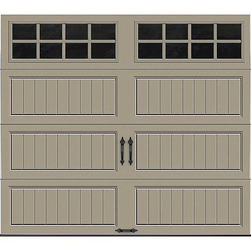 Porte de garage Collection Gallery 8pi x 7pi Valeur R 18.4 isolée en ployuréthane Intellicore Sable Fenêtres SQ24