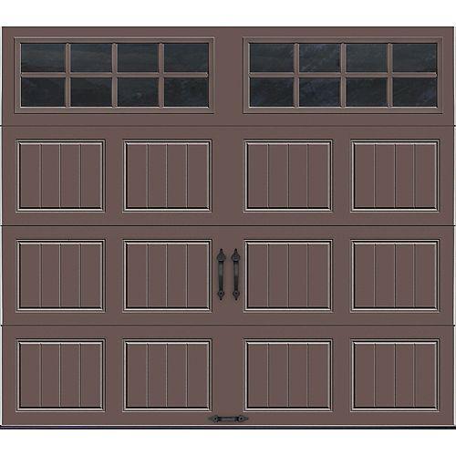 Porte de garage Collection Gallery 8 pi x 7 pi Valeur R 18.4 isolée en ployuréthane Intellicore Sable Fenêtres SQ24
