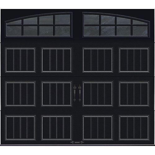 Porte de garage Collection Gallery 8 pi x 7 pi Valeur R 18.4 isolée en ployuréthane Intellicore Blanche Fenêtres Arch