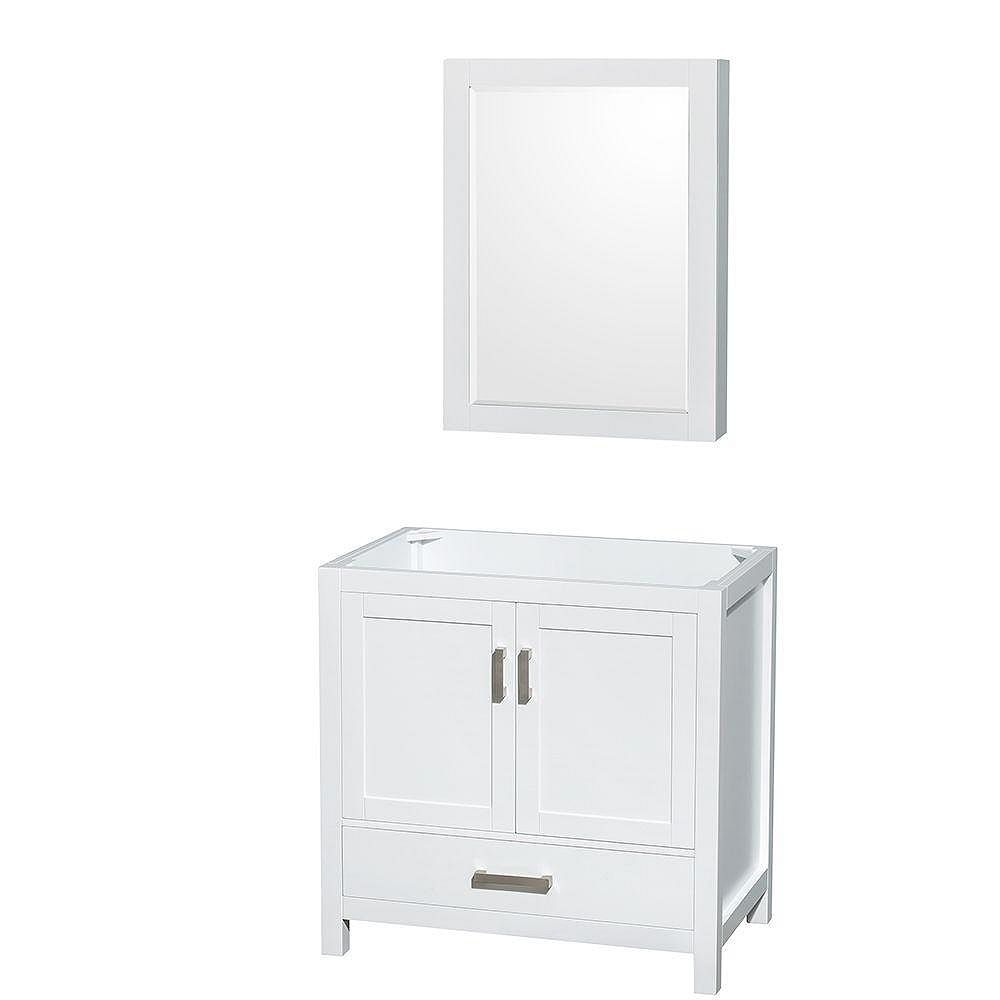 Wyndham Collection Sheffield 35-inch Vanity Cabinet with ...