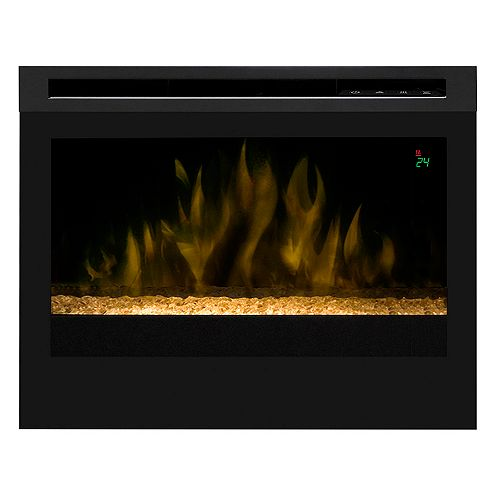 25 In. Electric Firebox with Fixed Crystal Ember Bed