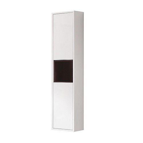 Sonoma 11-4/5-inch W x 55-1/10-inch H x 8-7/10-inch D Bathroom Storage Wall Cabinet in White