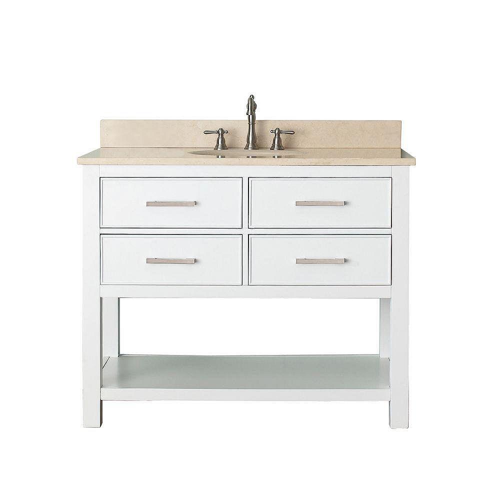 Avanity Brooks 43-inch W 2-Drawer Freestanding Vanity in ...