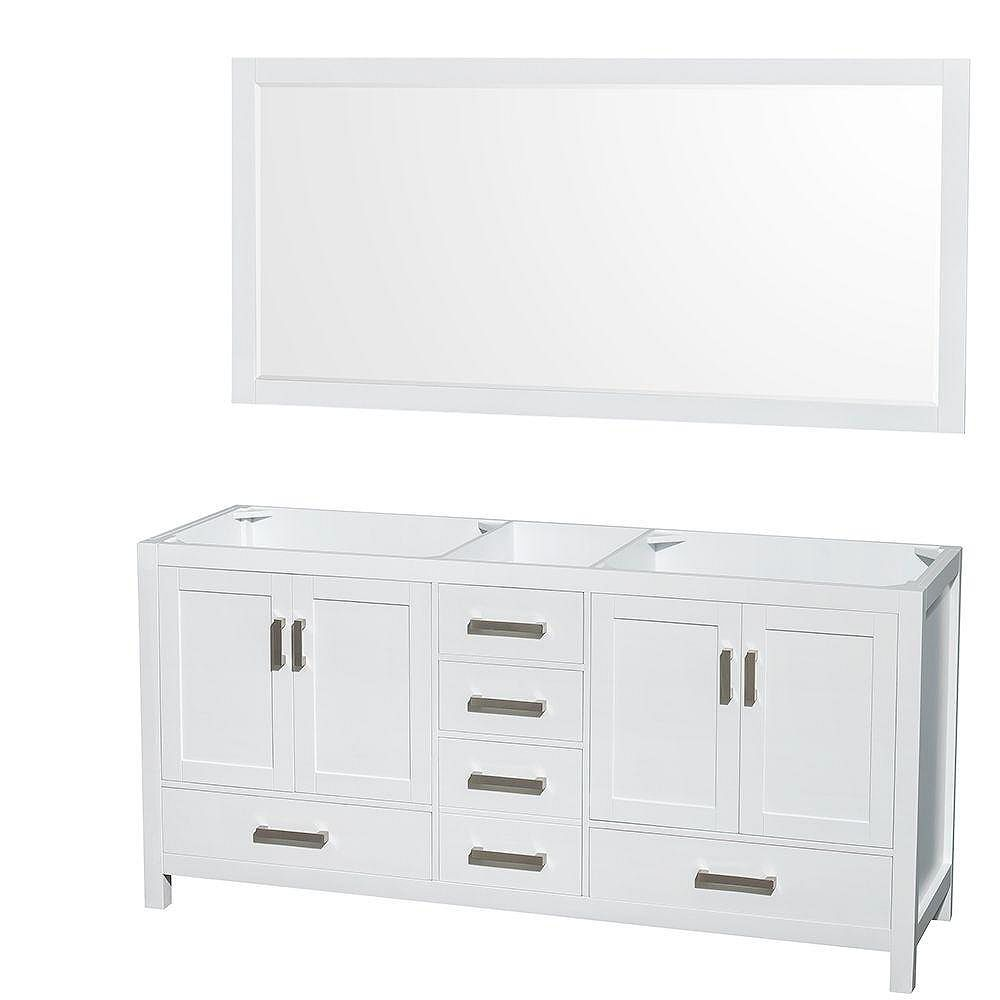 Wyndham Collection Sheffield 70-Inch Double Vanity Cabinet ...