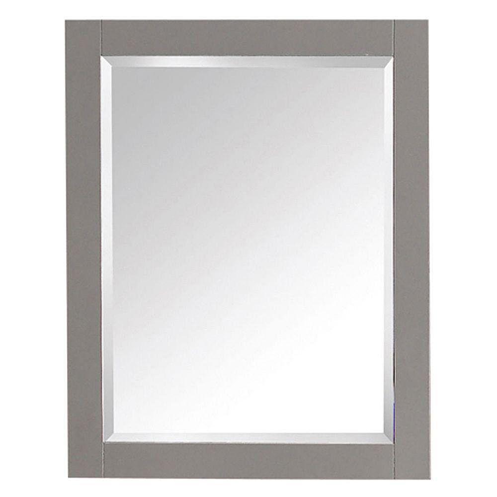 Avanity Miroir de 24 po pour gammes Brooks, Modero et Tribeca au fini gris froid
