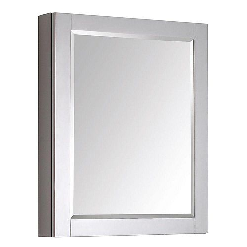 Avanity Transitional 30-inch L x 24-inch W Framed Wall Medicine Cabinet in Chilled Grey