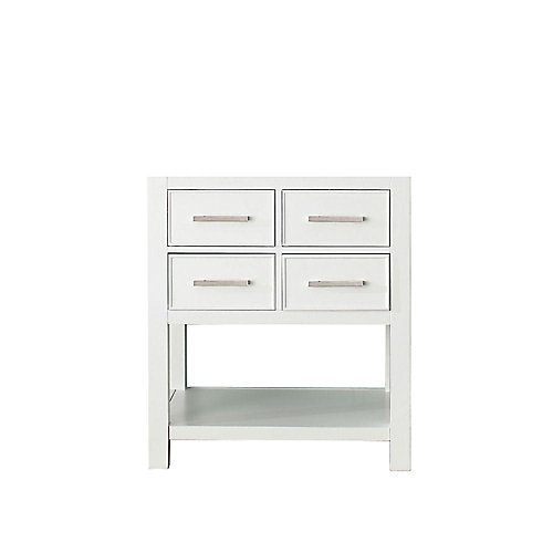 Brooks 21.50-inch W 2-Drawer Freestanding Vanity in White