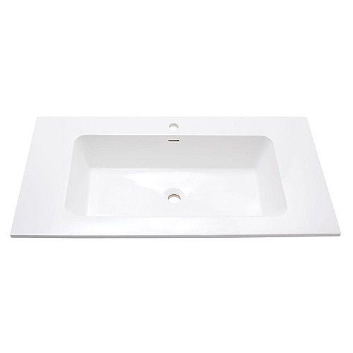 VersaStone 39-Inch W Solid Surface Vanity Top in White