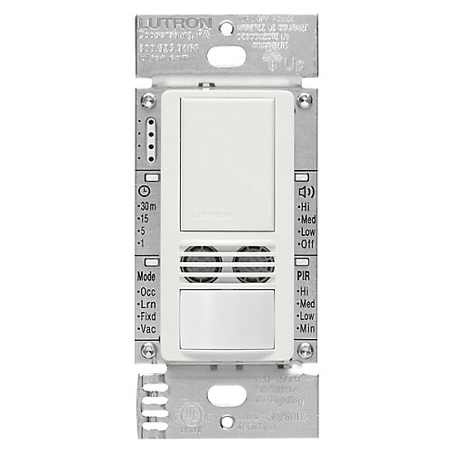 Maestro 6-Amp 3-Way/Multi-Location Dual Tech Occupancy Sensor Switch, White