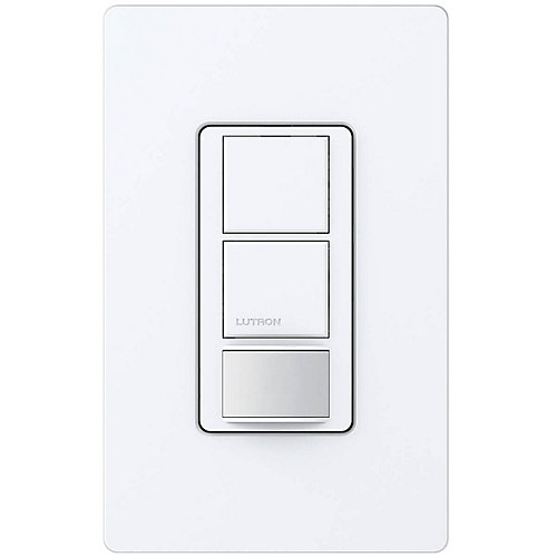 Maestro 6-Amp Single Pole Dual Circuit Occupancy Sensor Switch, White