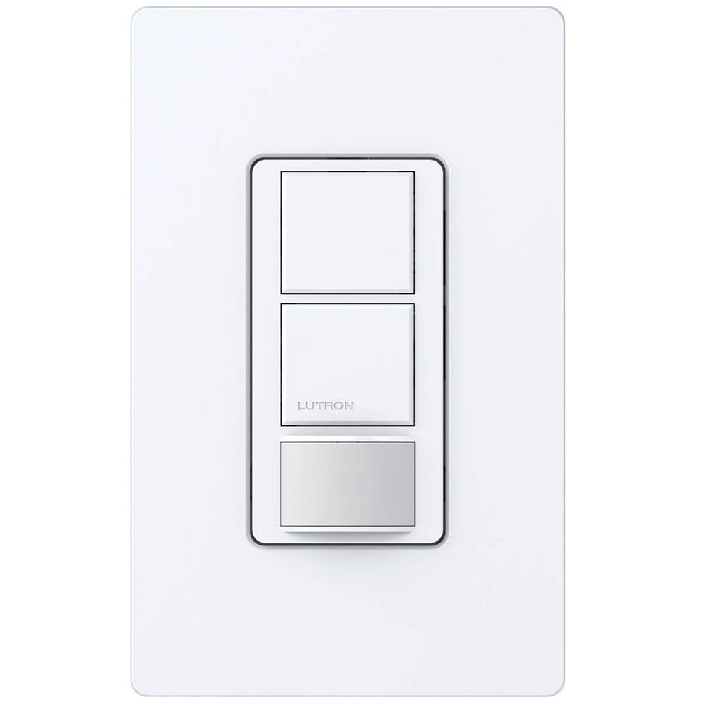Lutron Maestro 6 Amp Single Pole Dual Circuit Occupancy Sensor Switch White The Home Depot Canada