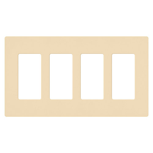 Claro 4-Gang wall plate, Ivory