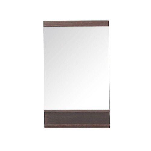 Miroir Milo de 22 po au fini bois de fer
