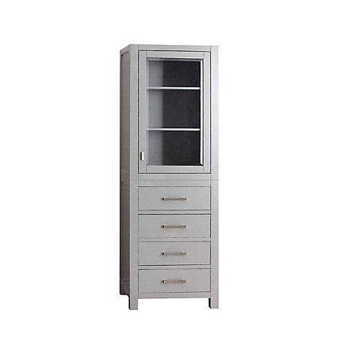 Modero 24-inch W x 71-inch H x 20-inch D Bathroom Linen Storage Tower Cabinet in Chilled Grey