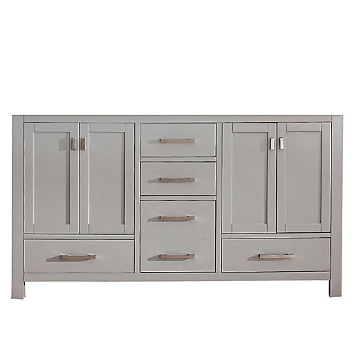 Modero 60-inch  Double Vanity Cabinet in Chilled Grey