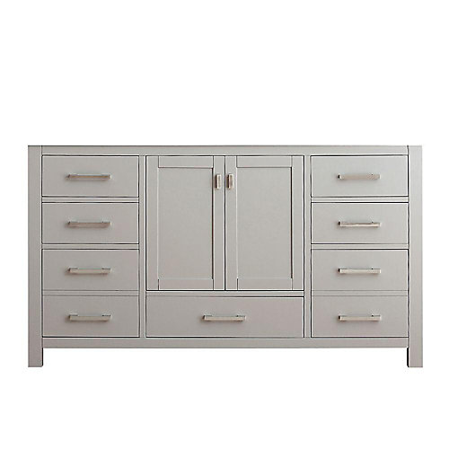 Modero 60-Inch  Vanity Cabinet in Chilled Grey