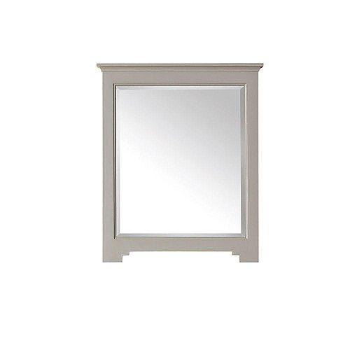 Miroir Newport de 28 po au fini gris français