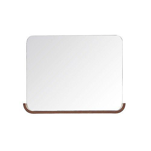 Miroir Siena de 35 po au fini châtaignier avec tablette