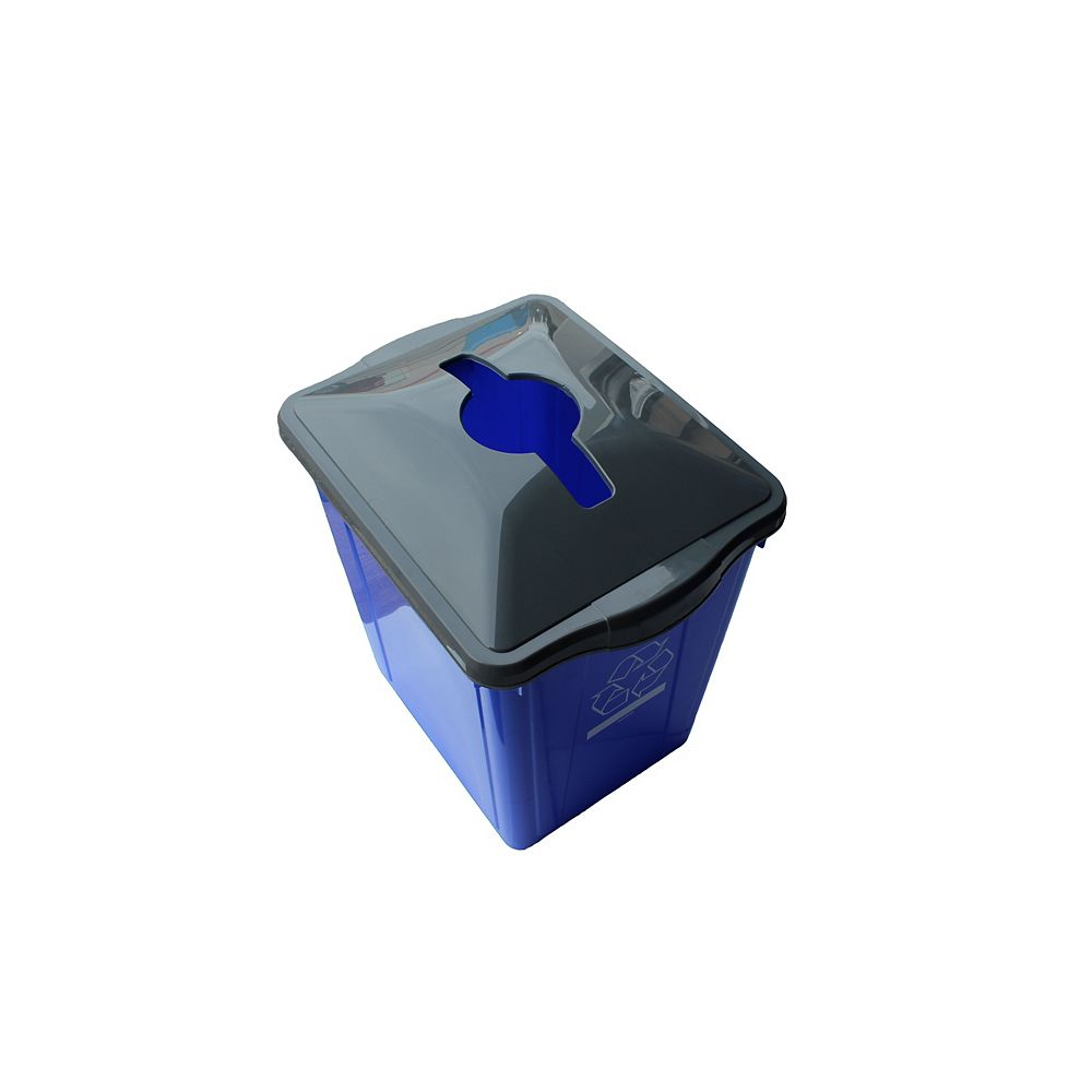 Enviro World 22 Gal. Recycling Box with Square Paper Slot Recycling Top