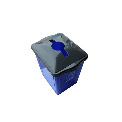 Enviro World Box recyclage 22 gl avec top Papier place Slot recyclage