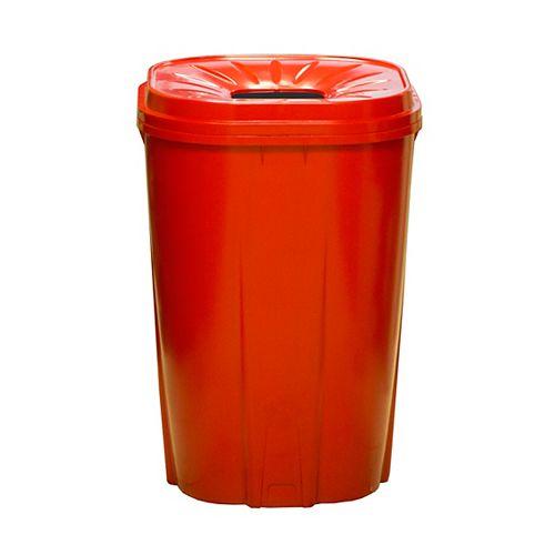 55 gal.Recycling bin rouge