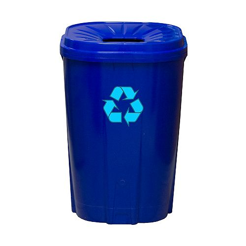 Enviro World 55 gal.Recycling bin bleu