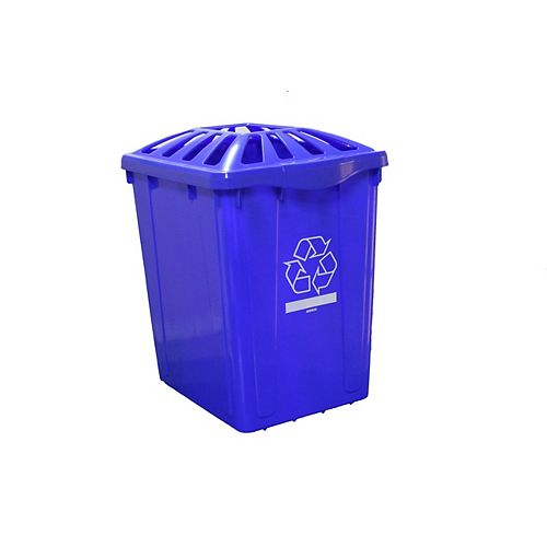 Boîte de recyclage de 22 gl. Avec couvercle standard