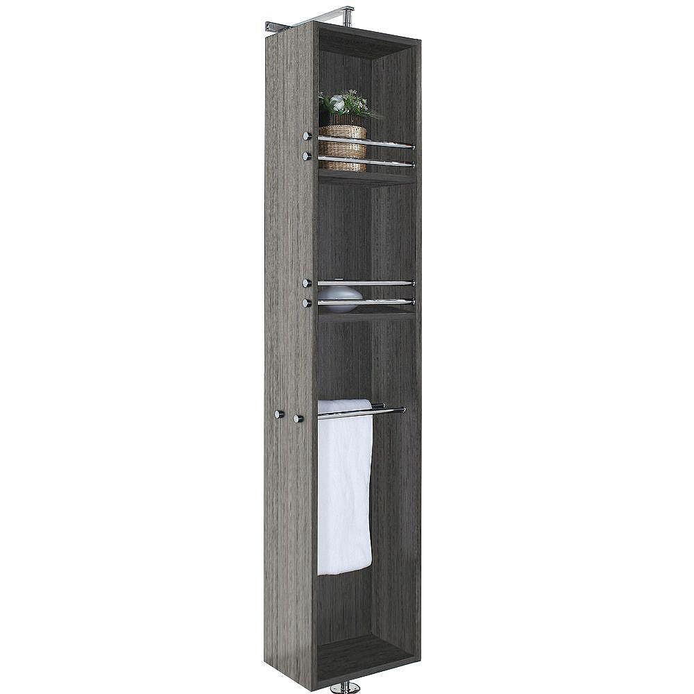 April 11212-11212/11212 In. W x 11211212-112/12 In. D x 711212 In. H Linen Cabinet in Grey Oak