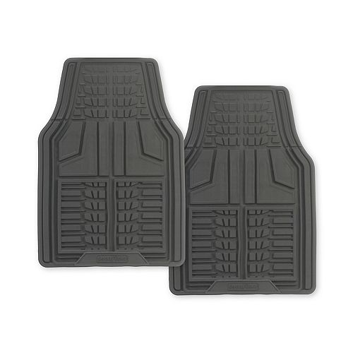 Premium 2-Piece Rubber Car Mat - Grey