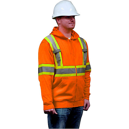 Hooded Fleece Sweatshirt Orange 2X-Large