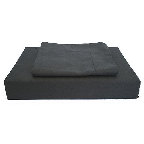 230 fils au pouce, Maxwell - Ensemble de housse de couette, Noir, grand lit