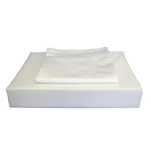 620TC Duncan Duvet Cover Set, White, Queen