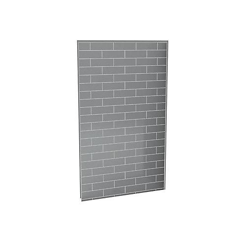 Utile mur de douche arriere 48 po. metro gris cendre