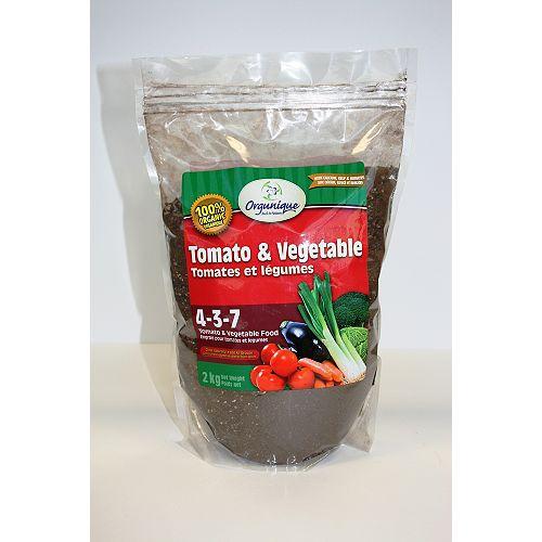 Tomates et légumes 4-3-7, Engrais granules pour légumes 2Kg