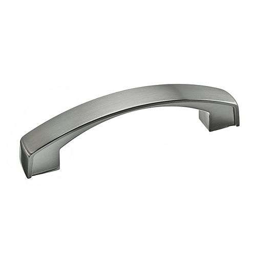 Richelieu Boisbriand Collection 3 3/4-inch (96 mm) Center-to-Center Brushed Nickel Transitional Cabinet Pull