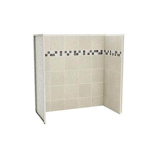 Utile ensemble de murs de baignoire-douche 60 po x 30 po stone sahara