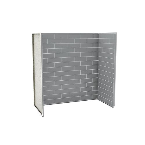 Utile 60-inch x 30-inch x 60-inch Metro Ash Grey Tub Shower Wall Kit (3 Panels kit)
