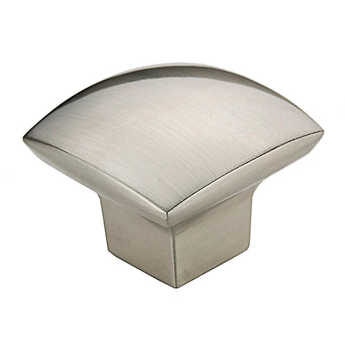 Contemporary Metal Knob  Brushed Nickel - Weston Collection